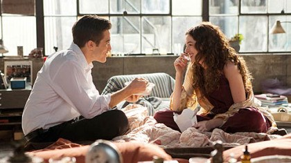 "Jake Gyllenhaal and Anne Hathaway Jake Gyllenhaal and Anne Hathaway in ""Love and Other Drugs."""
