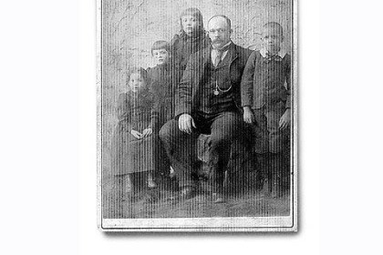 James Caldwell and the four children James Caldwell and the four children he placed in the orphanage from left are Mayme, Roberta, Susie and Archie. Roberta was the writer's great-grandmother.