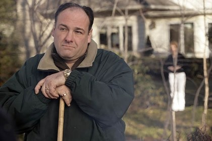 "James Gandolfini as Tony Soprano A lion in winter: James Gandolfini as Tony Soprano in 2007, in one of the last episodes of ""The Sopranos."""