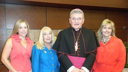 Jan Kubiska, Patty Orringer, Bishop David Zubik and Renee Cunningham Jan Kubiska, Patty Orringer, Bishop David Zubik and Renee Cunningham