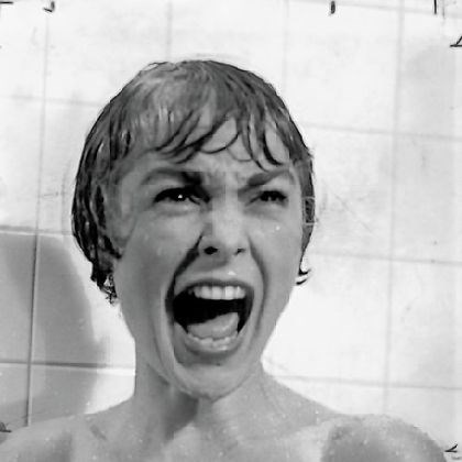 "Janet Leigh in 'Psycho' In ""Psycho,"" Janet Leigh spent seven days shooting the shower scenes. Hitchcock never asked her to appear nude."