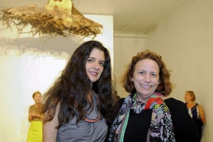 Janine Antoni and Margery King Janine Antoni and Margery King.
