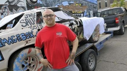 "Jason Sauer Jason Sauer's show, ""A Vehicular Abstraction,"" will include 15 art cars, three of whose owners Mr. Sauer met on the road."