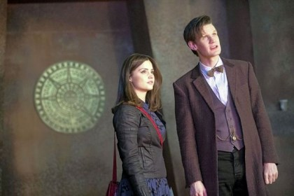 "Jenna-Louise Coleman and Matt Smith Jenna-Louise Coleman and Matt Smith star in BBC America's ""Doctor Who."""