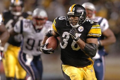 Jerome Bettis The Steelers' Jerome Bettis against the New England Patriots at Heinz Field in October 2004. He failed to make the Pro Football Hall of Fame Class of 2013, which was announced today in New Orleans.