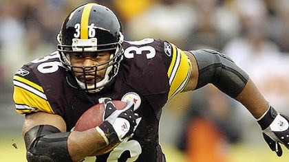jerome bettis file photo Jerome Bettis, retired Steeler, is eligible for the NFL Hall of Fame class of 2013.
