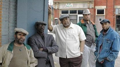 """Jitney"" In Pittsburgh Playwrights ""Jitney"" are, from left, Wali Jamal, Lonzo Green, Sala Udin, Les Howard and Joshua Elijah Reese."