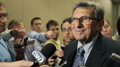 Joe Paterno Penn State head football coach Joe Paterno speaks to reporters Monday, in Chicago at the Big Ten Conference's annual media days.