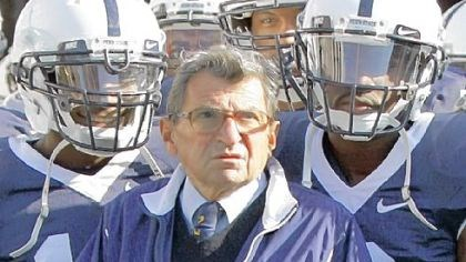 Joe Paterno Joe Paterno was a folk hero for most of his time at Penn State, where the Creamery, the famed ice cream shop, introduced a popular flavor, Peachy Paterno. Stores also sold a life-size cardboard cutout of his likeness.