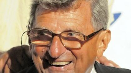 Joe Paterno -- The happy inductee Joe Paterno -- The happy inductee