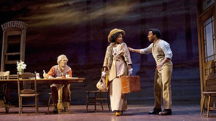 """Joe Turner"" 5 From left: Roger Robinson, Aunjanue Ellis and Andre Holland in a scene from ""Joe Turner's Come and Gone."""