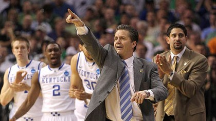 John Calipari Kentucky head coach John Calipari points during Thursday's NCAA tournament game against Princeton at St. Pete Times Forum in Tampa, Florida.