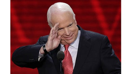 John McCain Sen. John McCain, R-Ariz., salutes before addressing the Republican National Convention in Tampa, Fla.