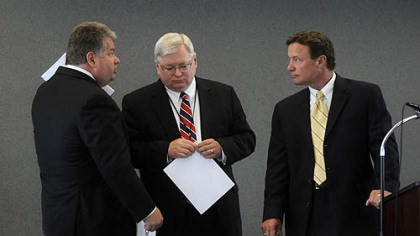 John Verbanac Consultant John Verbanac, left, talks with Jim Hassinger and Charlie Camp before a meeting of the Southwestern Pennsylvania Commission.