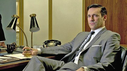 "Jon Hamm Jon Hamm plays ad man Don Draper, the central character in ""Mad Men, who stays cool in single-breasted suits and monotone colors."