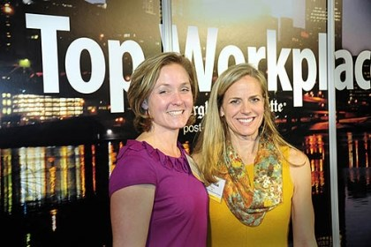 Julia Hudak and Tara Deringor Julia Hudak and Tara Deringor at the 2012 Top Workplaces awards sponsored by the Pittsburgh Post-Gazette.