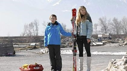 "Kacey Mottet Klein, left, and Gillian Anderson Kacey Mottet Klein, left, and Gillian Anderson portray brother and sister in the Swiss film ""Sister."""