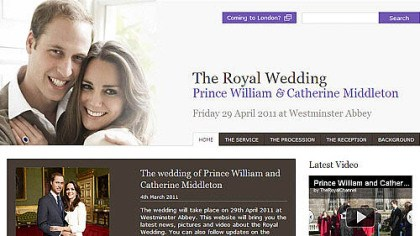 Kate and Wills The happy couple, online