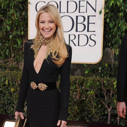Kate Hudson on red carpet Kate Hudson was among those opting for sleeves at the Golden Globes.