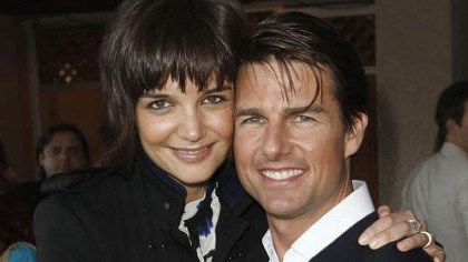 Katie Holmes and Tom Cruise Katie Holmes, left, and Tom Cruise at the MTV Movie Awards in 2008.