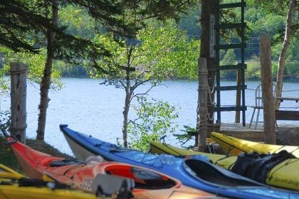 Kayaking is a popular Kayaking is a popular way to experience Cape Breton's scenery and wildlife.