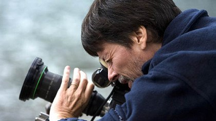Ken Burns Ken Burns filming at Montana's Glacier National Park.
