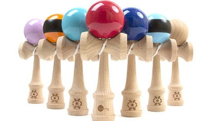 Kendama A Kendama is a more advanced version of the old cup and ball game 