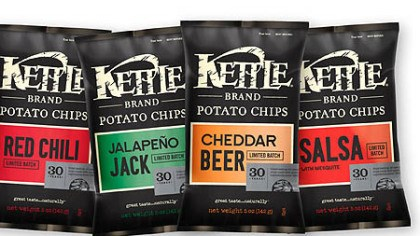 Kettle Brand potato chips Kettle Brand's 30th Birthday limited edition flavor collection.