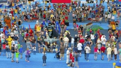 KidsFest An aerial view of last year's KidsFest at the David L. Lawrence Convention Center.