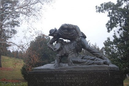 Kirkland statue in Fredericksburg In 1965, a larger-than-life statue by Felix DeWeldon of Sgt. Richard Kirkland tending to a wounded Union solder was unveiled at Marye's Heights in Fredericksburg, Va.