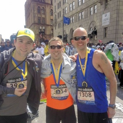 kissel From left: Jon Kissel, 29, of Pittsburgh; Aaron Horrell, 31, of Belle Vernon and Dave Spell, 34, of Jefferson Hills, at the 2013 Boston Marathon.