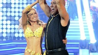 "Kym Johnson and Hines Ward Kym Johnson and Hines Ward celebrate their victory on ""Dancing With the Stars."""
