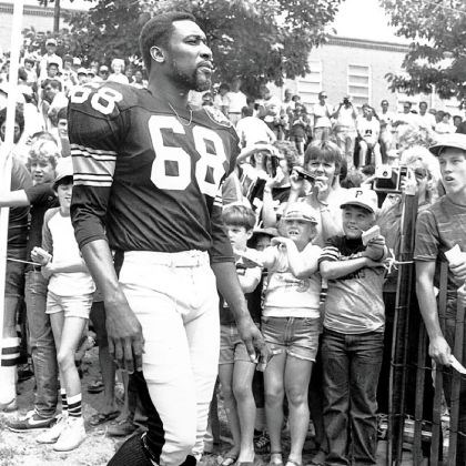 L.C. Greenwood L.C. Greenwood at 1982 training camp.
