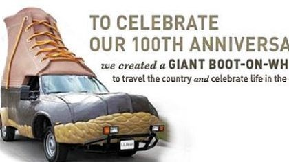 L.L.Bean Bootmobile The L.L.Bean Bootmobile will be here Wednesday and Thursday.