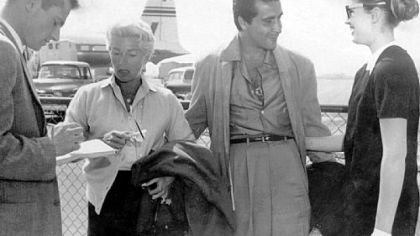Lana Turner, Johnny Stompanato and her daughter, Cheryl Crane On March 20, 1958, an unidentified reporter talks with Lana Turner, Johnny Stompanato and her daughter, Cheryl Crane, at the Los Angeles airport after they returned from a vacation in Mexico. On April 5, 1958, Cheryl was booked for the murder of Mr. Stompanato at Lana Turner's house in Beverly Hills.