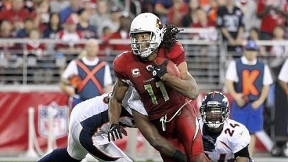 Larry Fitzgerald The Steelers' key to winning against the Cardinals Sunday will be to prevent quarterback Kevin Kolb from getting the ball to Larry Fitzgerald.