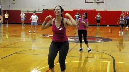 Learning 2 Harshita Gurnani, center, of Fox Chapel takes part in a Zumba class offered by the adult education program at Fox Chapel Area High School.