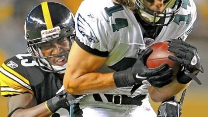 "Lewis Cornerback Keenan Lewis wraps up the Philadelphia Eagles' Riley Cooper in preseason action in August. ""The older you get, you have to grow at this position,"" said Lewis, who has eight solo tackles so far this season."