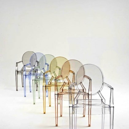 Louis Ghost Chairs Louis Ghost Chairs by Philippe Starck for Kartell.