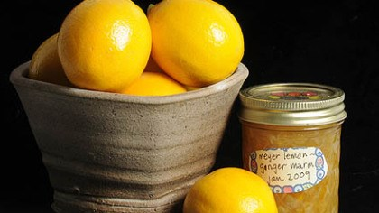 Lovely lemons Meyer lemons with Meyer Lemon-Ginger Marmalade