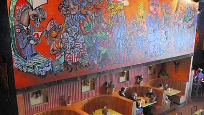 Mad Mex mural At Mad Mex in Shadyside, Pittsburgher Rick Bach's wild mural creates a lively ambience.