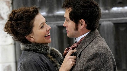 "Maggie Gyllenhaal and Hugh Dancy Maggie Gyllenhaal portrays one of two sisters holding the interest of Hugh Dancy in ""Hysteria."""
