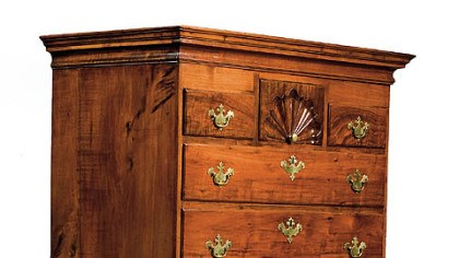 Mahogany highboy This Queen Anne mahogany highboy may sell for $7,000 to $12,000.