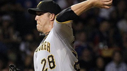 Maholm pitches Pirates pitcher Paul Maholm delivers during the second inning of last night's loss to the Chicago Cubs.