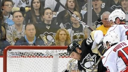 Marc-Andre Fleury Marc-Andre Fleury made 25 saves as the Penguins outlasted Carolina, 2-1, in a shootout Tuesday at Consol Energy Center == Fleury's 22nd win of the season.