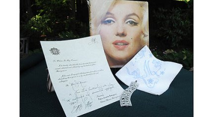 Marilyn's handkerchief A handkerchief once owned by Marilyn Monroe and its certificate of authenticity are some of the movie memorabilia owned by Marian Ungar Davis of Wilkins.