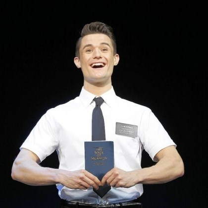 "Mark Evans Mark Evans in the first national tour of ""The Book of Mormon,"" opening Tuesday at the Benedum Center and running through April 7. The show won nine Tonys, including best musical."