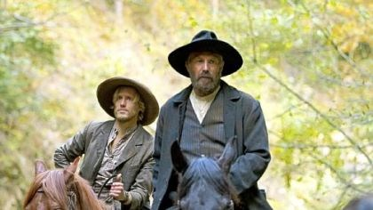 "Matt Barr and Kevin Costner Matt Barr, left, and Kevin Costner in ""The Hatfields and the McCoys"""