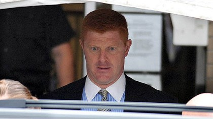 mcqueary Penn State assistant football coach on leave Mike McQueary leaves the Centre County Courthouse after testifying for two hours in the second day of testimony in the Jerry Sandusky trial.