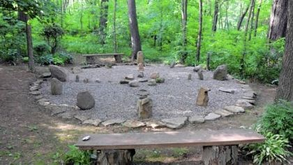 Medicine wheel A medicine wheel built in the woods beneath a 200-year-old oak tree.